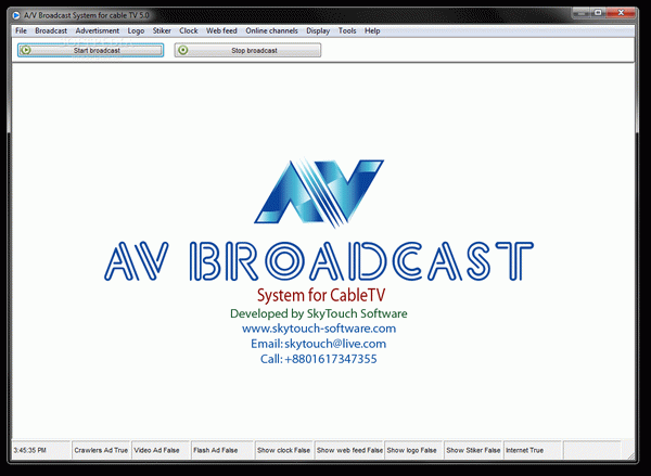 A/V Broadcast System for Cable TV Crack With Activator Latest