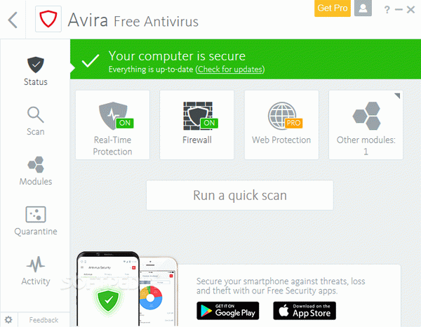Avira Free Antivirus Crack + Activation Code Updated