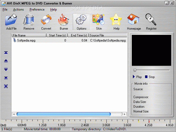 AVI DivX MPEG to DVD Converter & Burner Crack & Serial Key