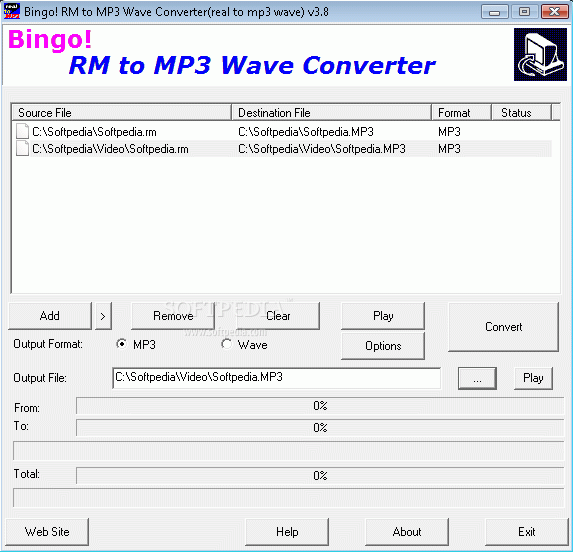 Bingo! RM to MP3 Wave Converter Crack Plus Serial Key