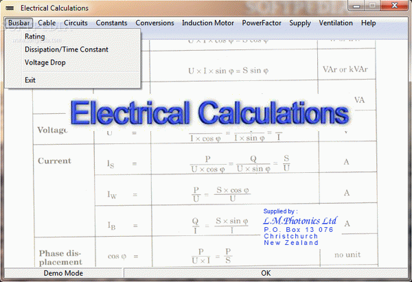 Electrical Calculations Activation Code Full Version
