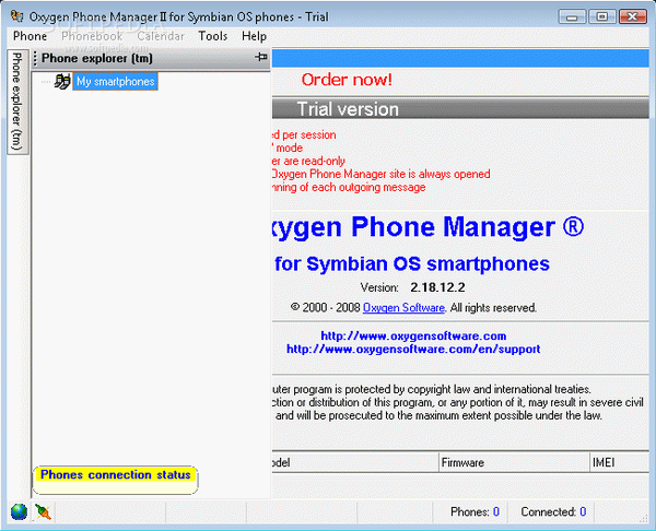 Oxygen Phone Manager for Symbian phones Crack + Serial Number Download
